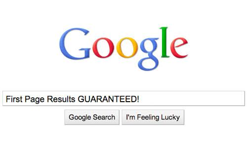 google first page guaranteed